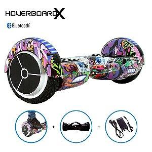 """Hoverboard Skate Elétrico 6,5"""" Hip Hop Rosa Barato Bluetooth"""