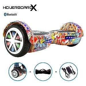 """Hoverboard Skate Elétrico 6,5"""" Hip Hop Laranja Barato"""