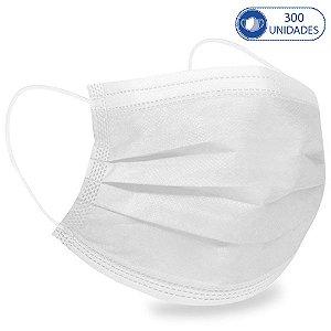 300 Máscaras Cirúrgicas Infantis Branca Descartável Tripla C