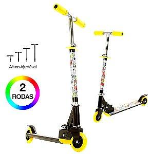 Patinete Infantil Amarelo Com Luzes nas Rodas BBR Toys B0005