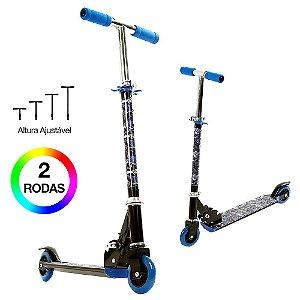 Patinete Infantil com Led na Roda Azul BBR Toys