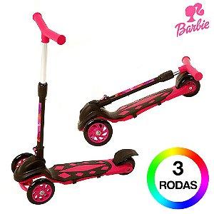 Patinete Infantil Barbie de 3 Rodas DM Radical