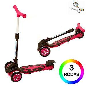 Patinete Infantil Unicórnio de 3 Rodas DM Radical