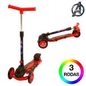 Patinete Infantil de 3 Rodas Capitão América DM Radical