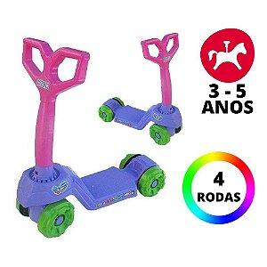 Brinquedo Infantil Super Divertido Mini Scooty Roxo Calesita
