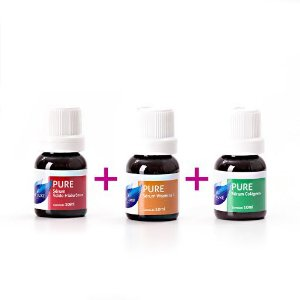 Kit de Seruns p/ Microagulhamento (Vitamina C Pura + Acido Hialurônico + Colágeno) Vie Luxe Paris