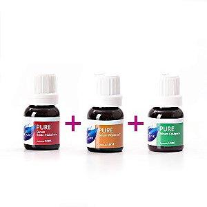 Kit de Seruns p/ Dermaroller (Vitamina C Pura + Acido Hialurônico + Colágeno) Vie Luxe Paris