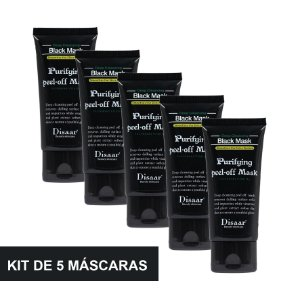 Kit 5 Máscara Preta Removedora De Cravos Black Mask Shills 50ML
