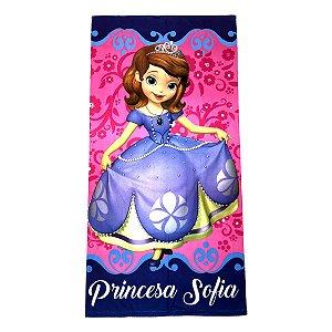 Toalha De Banho Felpuda Princesa Sofia Roxo Infantil Personagens