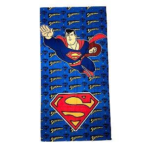 Toalha De Rosto E Mão Superman Felpuda Infantil Personagens