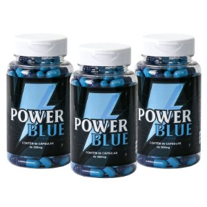 Kit 3 Power Blue Estimulante 500mg - 90 Cápsulas