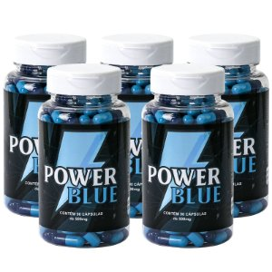 Kit 5 Power Blue Viagra Natural 500mg - 90 Cápsulas