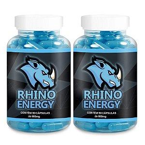 Kit 2 Rhino Energy Estimulante 500mg - 90 Cápsulas