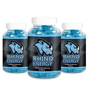 Kit 3 Rhino Energy Estimulante 500mg - 90 Cápsulas