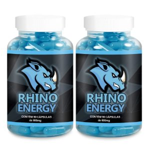 Kit 2 Rhino Energy Viagra Natural 500mg - 90 Cápsulas