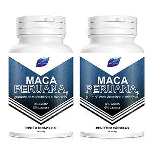Kit 2 Maca Peruana 100%Pura + Vitaminas 500mg - 90 Cápsulas