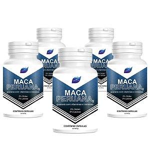 Kit 5 Maca Peruana 100%Pura + Vitaminas 500mg - 90 Cápsulas