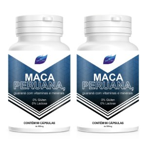 Kit 2 Maca Peruana Viagra Natural 500mg - 90 Cápsulas