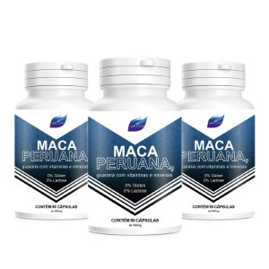 Kit 3 Maca Peruana Viagra Natural 500mg - 90 Cápsulas