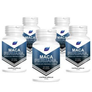 Kit 5 Maca Peruana Viagra Natural 500mg - 90 Cápsulas