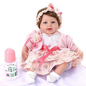 Bebe Reborn Kaydora Boneca Menina Realista Princesa