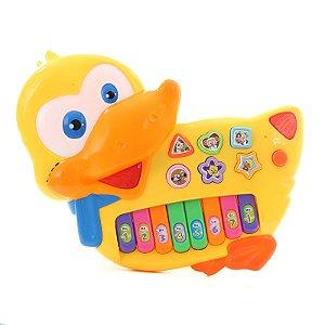 Piano Infantil Instrumento Pato Musical Eletrônico