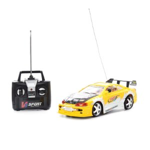 Carrinho Sport Car Carro Amarelo Corrida Controle Remoto