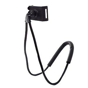 Suporte Celular Articulado De Pescoço Selfie Cama Mesa Sofá Preto