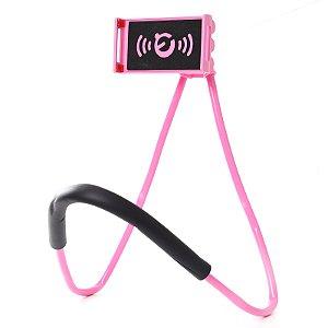 Suporte Celular Articulado De Pescoço Selfie Cama Mesa Sofá Rosa