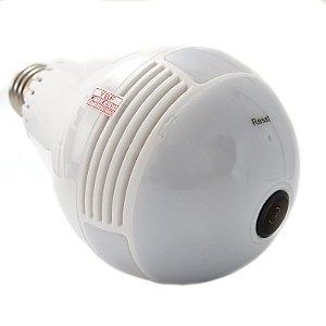 Lâmpada Câmera Ip Espiã Wifi HD 360º Panorâmica Segurança