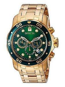 Relógio Invicta Pro Diver 0075 Dourado Masculino