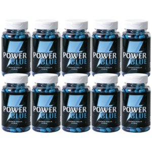 Kit 10 Power Blue Estimulante 500mg - 90 Cápsulas