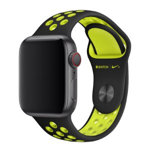 Pulseira Silicone Esportiva Para Apple Watch 42mm - Preto/Verde