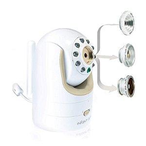 Babá Eletrônica Infant Optics DXR-8 para Bebê c/ Lente Óptica Permutável