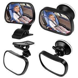 Espelho Retrovisor Baby 2 em 1 para Carro Bebê Adaptável Ajustável Mamãe