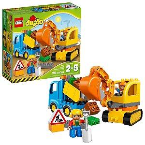 10812 - Lego Duplo Kit Brinquedo de Construção com Escavadeira