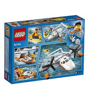 60164 - Lego City Kit de Construção Avião de Salvamento Marítimo da Guarda Costeira