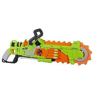 Lançador de Dardos e Serra Giratória Blaster Brainsaw Nerf Zombie