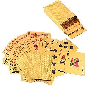 Baralho Dourado de Poker Truco Jogos de Cartas