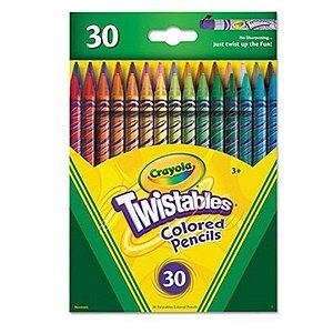 Lápis de Cor Crayola Twistables Com Design de Torção Com 30 Cores