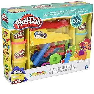 Conjunto Funcional Play-Doh Com Massinha de Modelar e Peçinhas Para Modelar