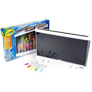 Lousa com Quadro de Luz Crayola Infantil Luz LED com Painel Traseiro Removível