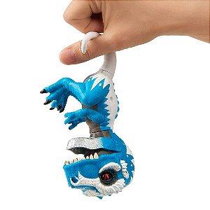 Dinossauro T-Rex Ironjaw Agarradinhos  Fingerlings Untamed Azul