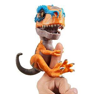 Dinossauro T-Rex Scratch Agarradinhos  Fingerlings Untamed Laranja