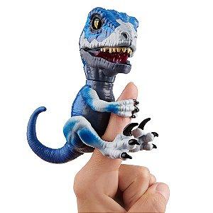 Dinossauro Raptor Frostbite Agarradinhos  Fingerlings Untamed Azul Escuro