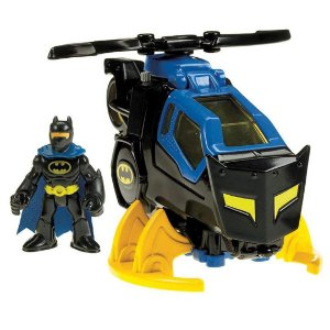 Boneco Imaginext Batman e Batcopter seu Helicóptero Fisher-Price Super Friends