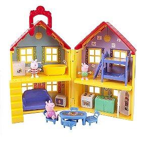 Casa Deluxe da Peppa Pig Playset Com a Suzy Sheep e George