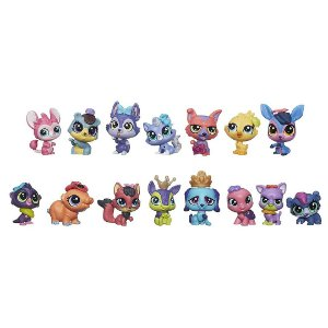 Kit 15 Animais Littlest Pet Shop Pet Party Espetacular Aventuras Animadas