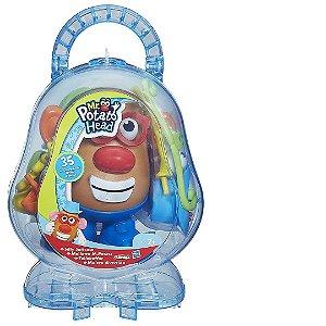 Kit Boneco Mr. Potato Playskool Com 34 Peças Mais Maleta no Formato de Cabeça do Senho Batata