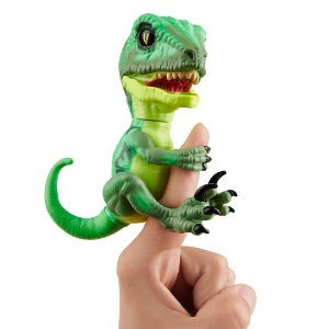 Dinossauro Raptor Hazard Agarradinhos  Fingerlings Untamed Verde